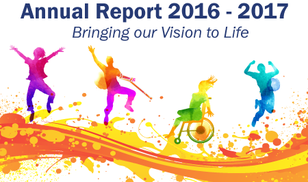 Cover image of our Annual Report 2016-2017